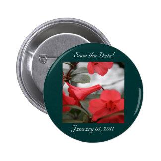 Hochzeits-Einladungen, Save the Date! Runder Button 5,7 Cm