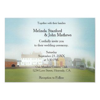 Hochzeits-Einladungs-Bauernhof Karte