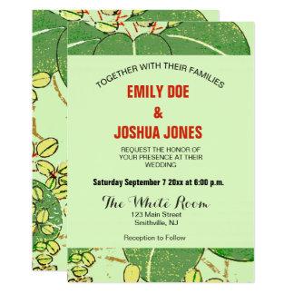 Hochzeits-Einladungs-Blumenkunst-Druck-Gewohnheit 12,7 X 17,8 Cm Einladungskarte