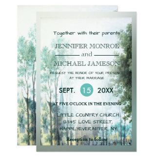 Hochzeits-Einladungs-einfache Land-Kirche Karte