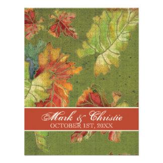 Hochzeits-Einladungs-Herbst-Trauben-Blatt-Batik Ankündigung