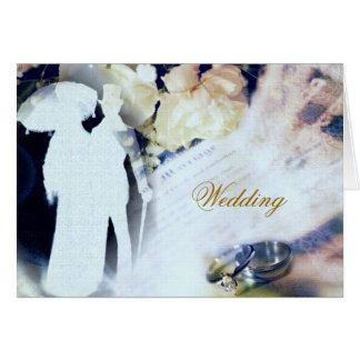 Hochzeits-Einladungs-Karte Grußkarte