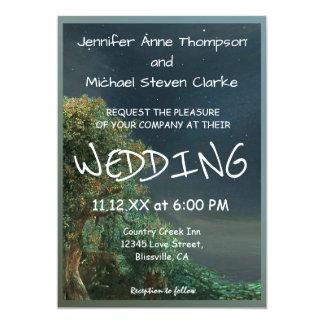 Hochzeits-Einladungs-Land-Abends-Sterne Karte