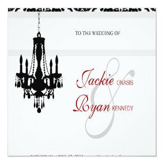 Hochzeits-Einladungs-Leuchter-Schwarz-weißer Karte