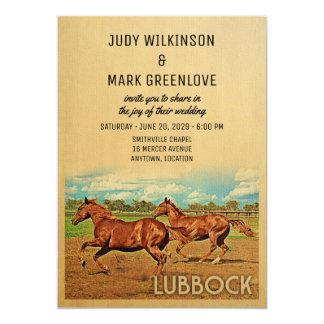 Hochzeits-Einladungs-Pferde Lubbocks Texas Karte