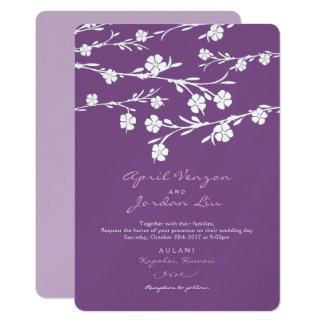 Hochzeits-Einladungs-weißer 12,7 X 17,8 Cm Einladungskarte