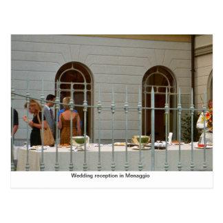 Hochzeits-Empfang in Menaggio Postkarten