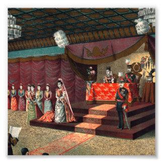 Hochzeits-Empfang von Kronprinze Yoshihito Photographie