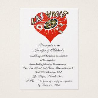 Hochzeits-Empfangs-Einladung Las Vegas Visitenkarte