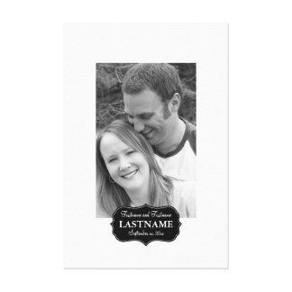 Hochzeits-Empfangs-Gast-Buch Leinwand Druck