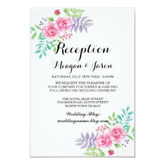 Hochzeits-Empfangs-Karten-BlumenRose lädt ein Karte