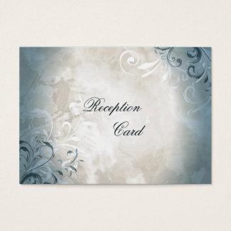 Hochzeits-Empfangs-Karten-elegantes Vintages Laub Jumbo-Visitenkarten