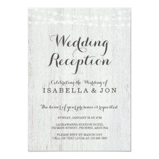 Hochzeits-Empfangs-nur Einladung, rustikales Karte