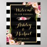 Hochzeits-Empfangs-Zeichen-GoldVintage Poster