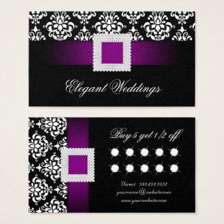 Hochzeits-Ereignis-Planer-Schmuck-lila Visitenkarte