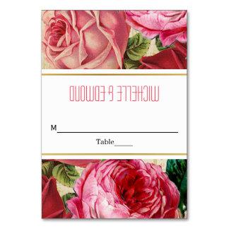 HOCHZEITS-Eskortekarte der Vintagen rosa Rosen Karte
