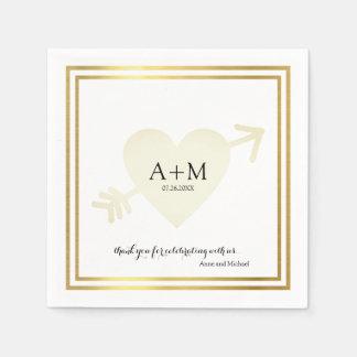Hochzeits-Feier-Empfang des Herzens eleganter Papierservietten