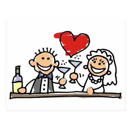 Hochzeits-Feier Postkarte