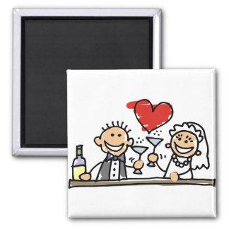 Hochzeits-Feier Quadratischer Magnet
