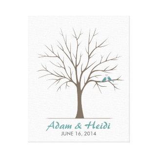 Hochzeits-Fingerabdruck-Baum - klassische Liebe-Vö Galerie Falt Leinwand