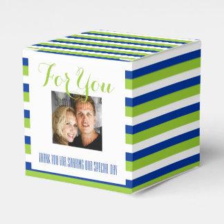 Hochzeits-Foto 1 des blauen Grüns Geschenkschachtel