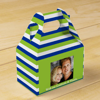 Hochzeits-Foto 2a des blauen Grüns Geschenkschachteln