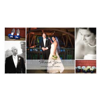 Hochzeits-Foto-Collage - danke Foto Karten Vorlage