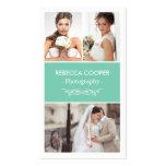 Hochzeits-Foto-Collagen-elegante saubere Visitenkarten