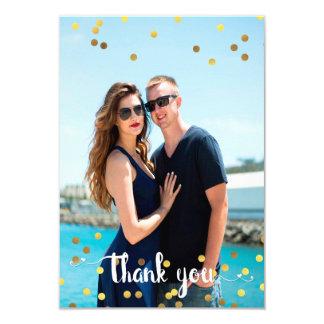 Hochzeits-Foto danken Ihnen 8,9 X 12,7 Cm Einladungskarte