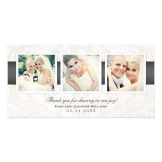 Hochzeits-Foto danken Ihnen kardiert | drei Fotos Photo Karten