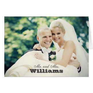 Hochzeits-Foto danken Ihnen Mitteilungskarten- ge