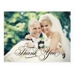 Hochzeits-Foto danken Ihnen Postkarte der Mitteilu