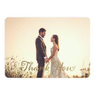 Hochzeits-Foto danken Ihnen zu merken, 12,7 X 17,8 Cm Einladungskarte