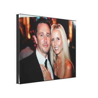 Hochzeits-Foto eingewickelte Leinwand schaffen
