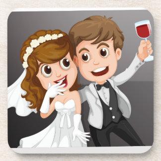 Hochzeits-Foto Getränke Untersetzer