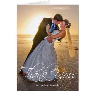 Hochzeits-Foto-Gewohnheit danken Ihnen Karte