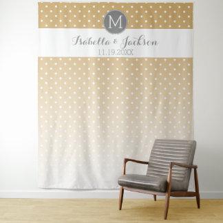 Hochzeits-Foto-Hintergrund-Braut-Bräutigam - Wandteppich
