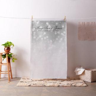 Hochzeits-Foto-Hintergrund-Silber-Schein-Lichter Stoff