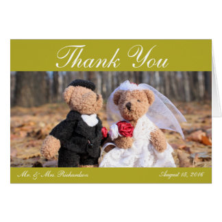 Hochzeits-Foto Horiz. Gold Custom danken Ihnen Karte