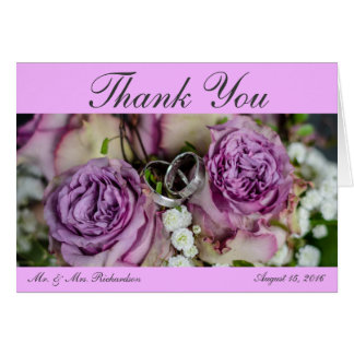 Hochzeits-Foto Horiz. Pink Custom danken Ihnen Karte