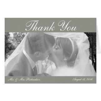 Hochzeits-Foto Horiz. Silver Custom danken Ihnen Karte