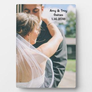 Hochzeits-Foto-Plakette Fotoplatte