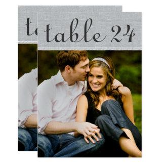 Hochzeits-Foto-Tischnummer kardiert | rustikales 12,7 X 17,8 Cm Einladungskarte