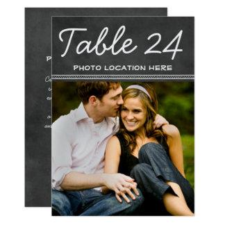 Hochzeits-Foto-Tischnummer kardiert | Tafel 12,7 X 17,8 Cm Einladungskarte