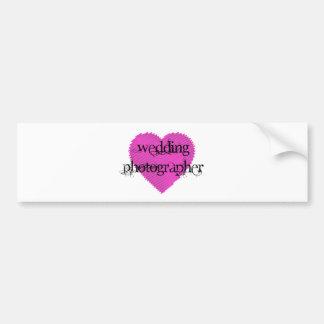 Hochzeits-Fotograf Auto Sticker