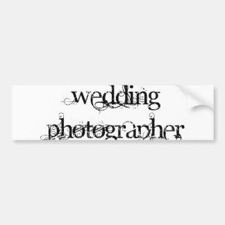 Hochzeits-Fotograf Autoaufkleber