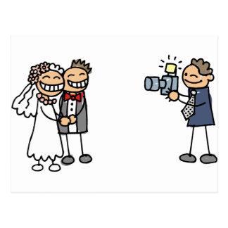 Hochzeits-Fotograf-Fotografie-Hochzeits-Bilder Postkarte