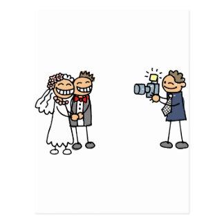 Hochzeits-Fotograf-Fotografie-Hochzeits-Bilder Postkarten