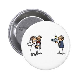 Hochzeits-Fotograf-Fotografie-Hochzeits-Bilder Runder Button 5,1 Cm