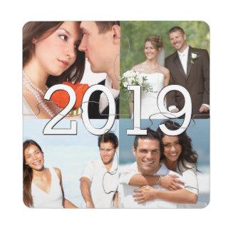 Hochzeits-Fotos und kundenspezifischer Puzzle Untersetzer